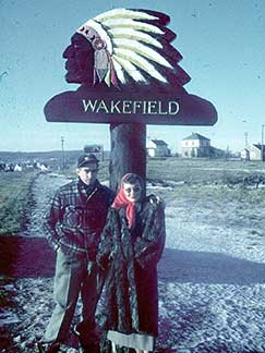 Mom and Dad by the Wakefield sign