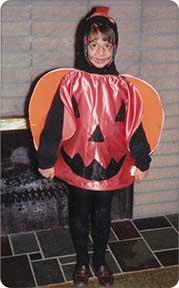 Paula as a pumpkin